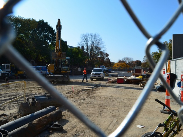 13. Site work in late October