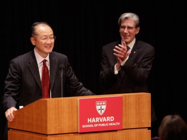 World Bank director Jim Yong Kim, M.D. '91, Ph.D. '93, who also received a Centennial Medal on Thursday