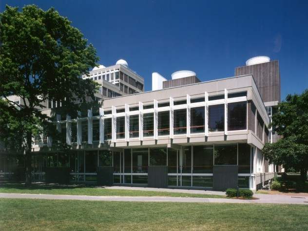 Exterior view of the Cabot Science Library in the Science Center, as it exists today, before planning begins for a comprehensive renovation