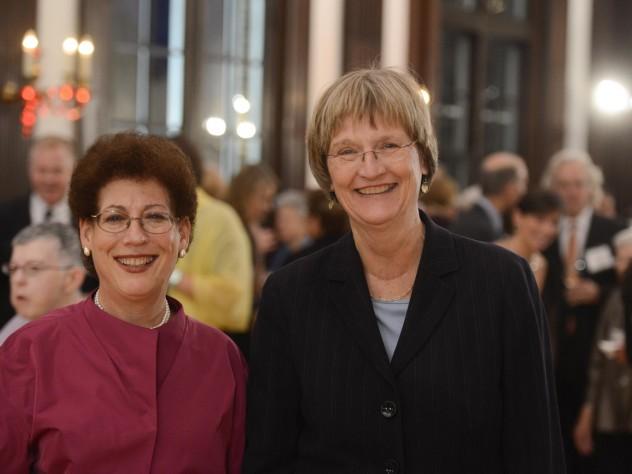 Dean Lizabeth Cohen and President Drew Faust