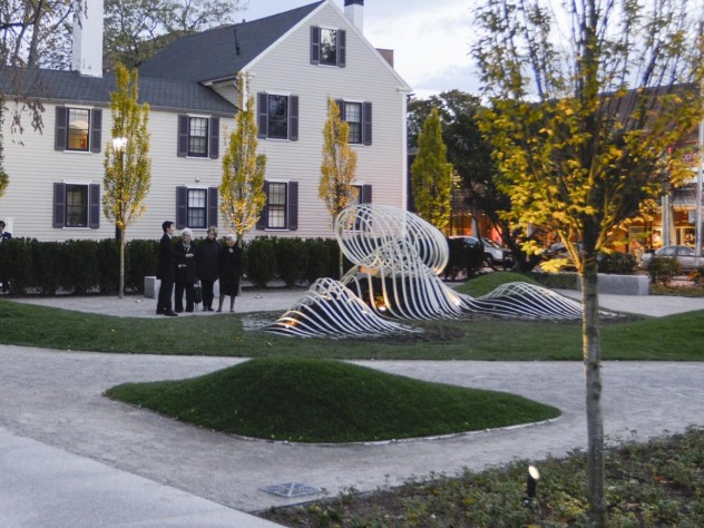 The Radcliffe Institute's newly named Wallach Garden and its inaugural public-art installation, <i>Saturate the Moment</i>