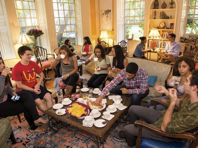 The weekly Lowell House tea, held in the master's residence
