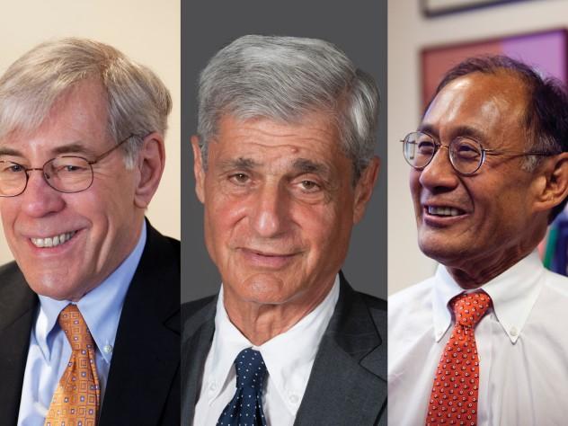 Corporation members Robert D. Reischauer, Robert E. Rubin, and William F. Lee