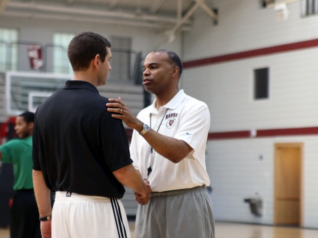 Stevens also reviewed lessons from his experiences while leading Butler University to appearances in the national championship game, as Amaker hopes to do at Harvard.