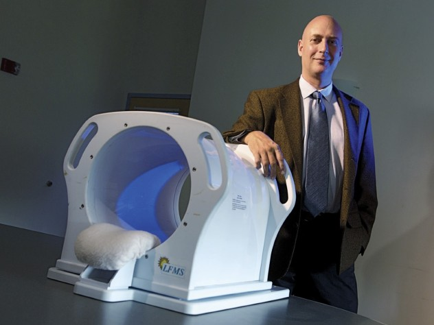 Michael Rohan has developed a magnetic-stimulation machine that shows promise for the immediate treatment of depression.