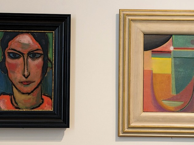Two Alexei Jawlensky paintings of the human face