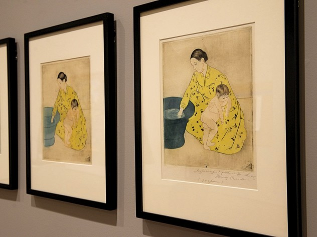 "Impressions on paper from Mary Cassatt's own ""studio collection"" show her experimentation with combinations of black plates and color plates using a variety of inking techniques and colored papers."