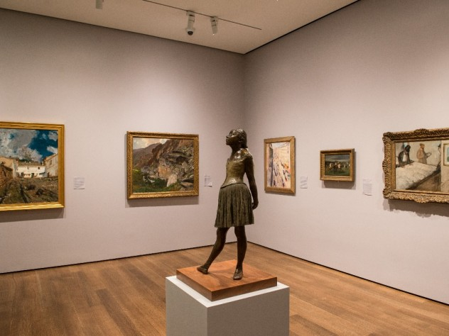 This gallery's collection conveys the breadth of nineteenth-century collectors' international interests, by grouping together works by Sargent, Munch, and Degas, among others.