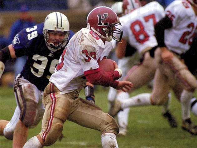 A first-quarter touchdown by Chris Menick keyed a 17-7 victory over Yale in 1997, a win that gave Murphy his first Ivy League title and fulfilled a promise to his first recruiting class.