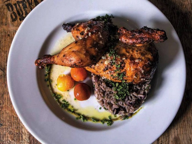 Try Latin-Caribbean fare, like roasted quail with Cuban rice and beans.