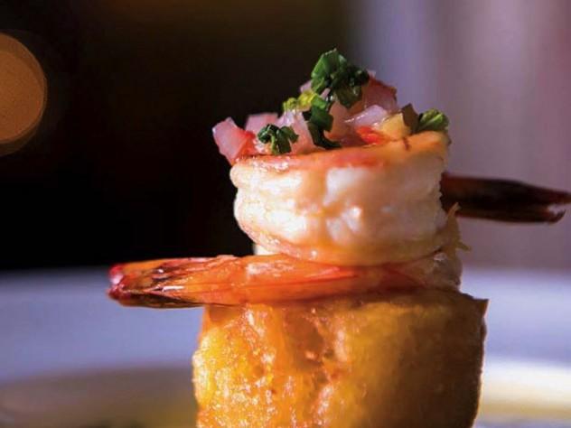 Shrimp in butter-rum citrus sauce