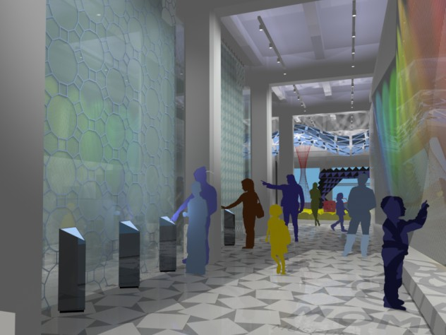 A conceptual rendering of the museum interior