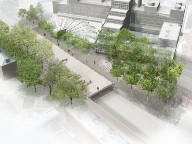 1. An Aerial Rendering Of The New Plaza Atop The Cambridge Street Tunnel,  Looking