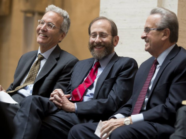 Cabot director of the Harvard Art Museums Thomas W. Lentz, Provost Alan Garber, and Cambridge city manager Richard C. Rossi all spoke at the event.