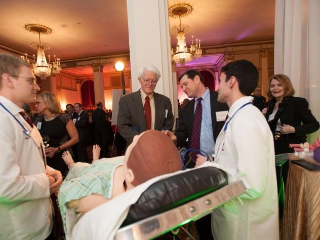 """Sim-man"" teaches students how to diagnose a patient."