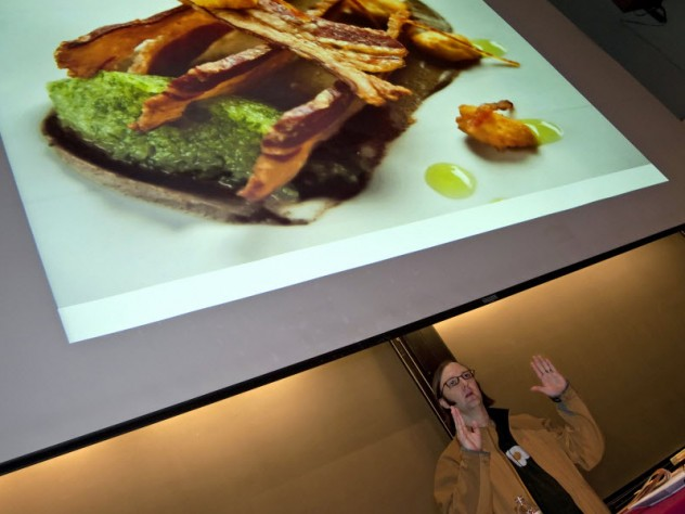 "Wiley Dufresne, the innovative chef at wd~50 in New York City, presents a lecture titled ""Meat Glue Mania"" as part of the public lecture series."