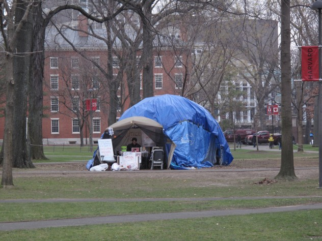 The remaining encampment as of December 21