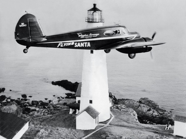 En route over Boston Light (1947)