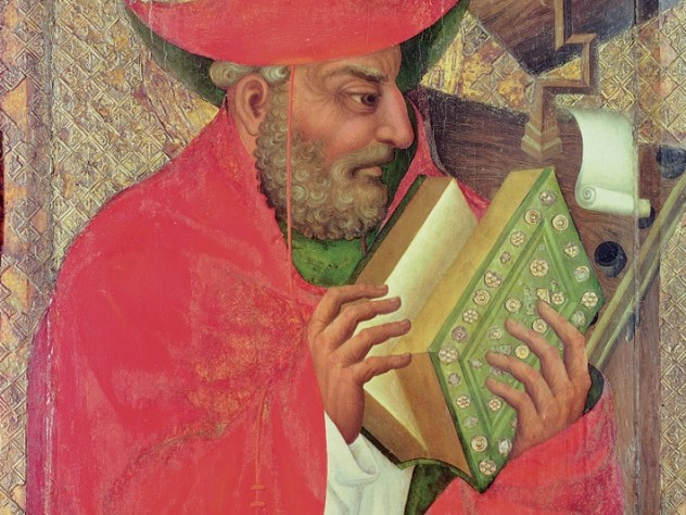 Saint Jerome—whose Latin translation <i>was</i> the European Bible for a thousand years— by Theodoricus of Prague (fl. 1359-1381)