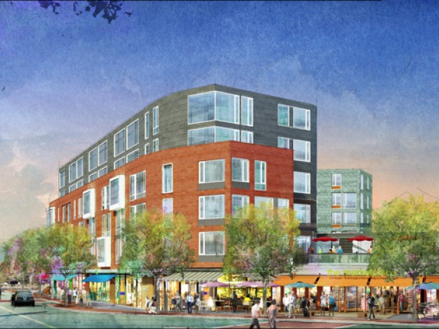 The Barry's Corner Residential and Retail Commons project, located at the intersection of North Harvard Street and Western Avenue in the North Allston neighborhood, will feature approximately 325 rental residential units, 45,000 square feet of ground-floor retail space, and 180 below-grade parking spaces and 41 on-street parking spaces on two new streets created within the project site.