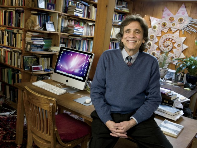 Ted Kaptchuk in his home office in Cambridge