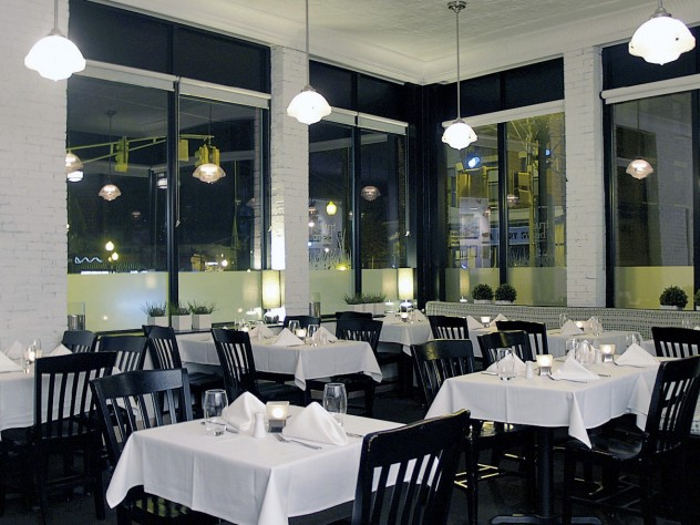 True Bistro's spare, calm room sits in busy Teele Square.