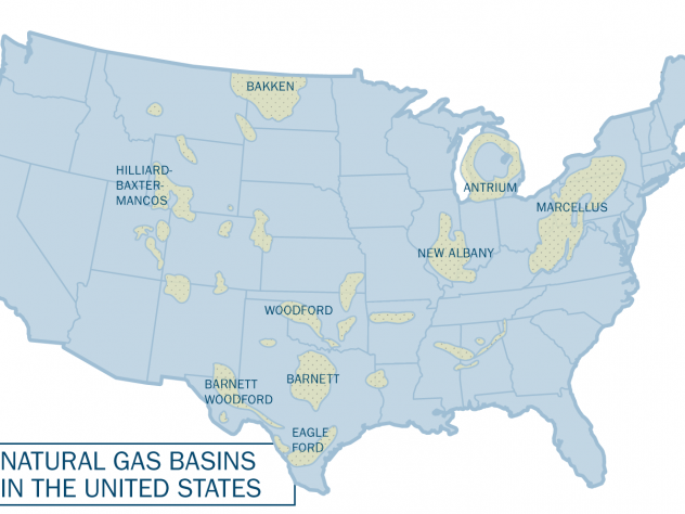 Michael McElroy And Xi Lu On Natural Gas Fracking And US - Map of us fracking sites