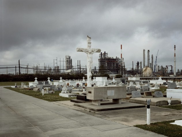 Holy Rosary Cemetery and Dow Chemical Corporation, Taft, Louisiana, 1998. From <i>Petrochemical America</i>