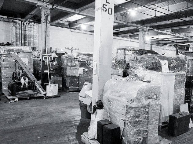 The Milwaukee warehouse of Eagle Moving and Storage Company, where evicted renters can pay to store their belongings.