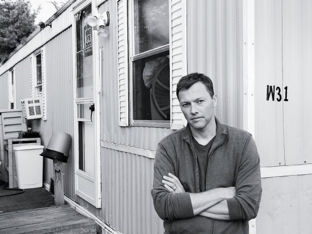 Matthew Desmond at the Milwaukee trailer park where he lived while conducting fieldwork for his doctoral dissertation.