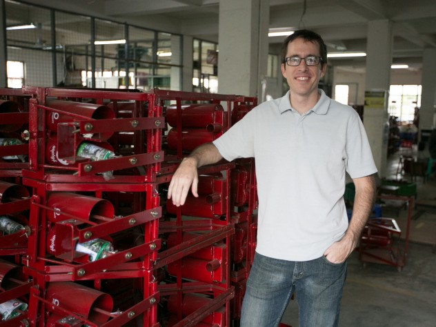 Manufacturing manager Todd Murphy, an engineer, at Proximity's factory and assembly facility in northeastern Yangon