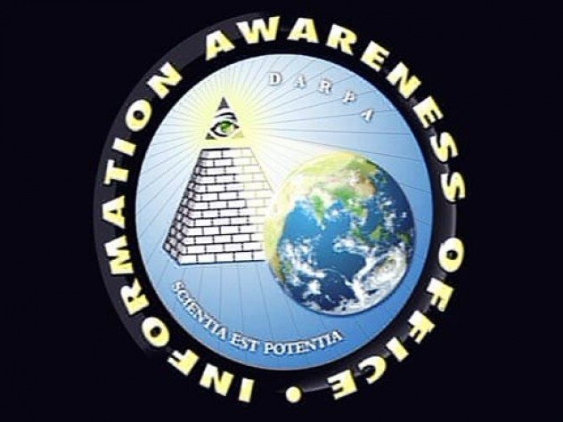 "The logo of DARPA's Information Awareness Office ""captures the idea that observation is power,"" says Yochai Benkler."