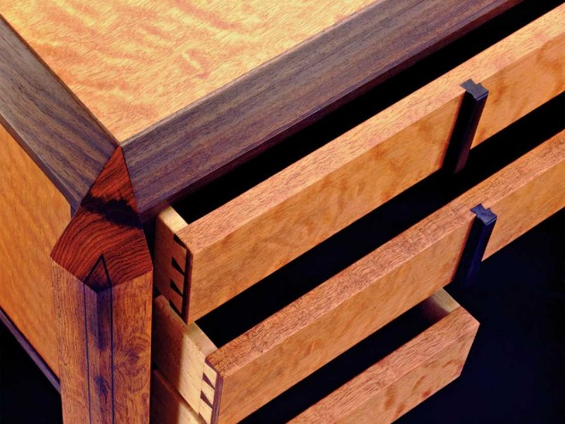 A seven-drawer desk (detail)