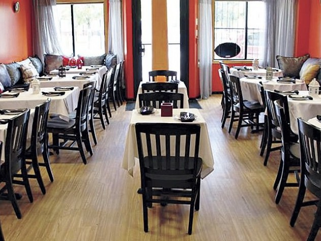 The Somerville restaurant offers a warm, simple setting.