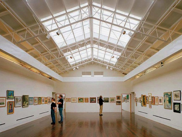 Airy, open gallery space at the Provincetown Art Association and Museum