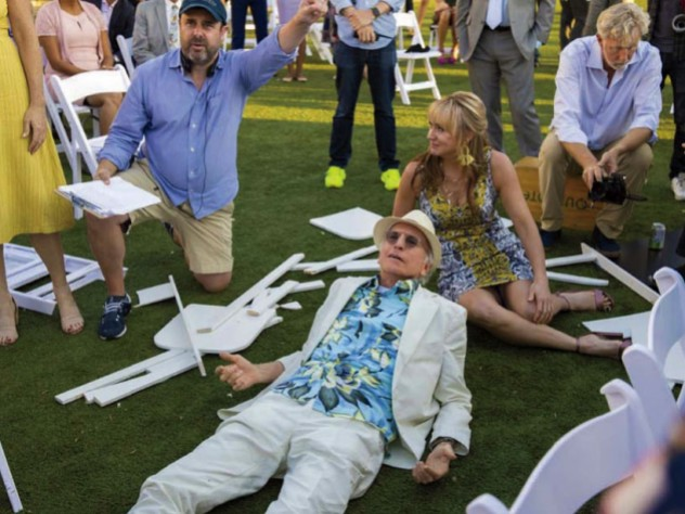 """Schaffer directs a """"Curb Your Enthusiasm"""" scene in which David lies on the ground surrounded by other cast members."""