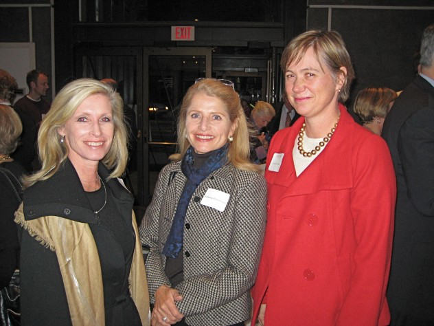 Jacqueline Whitney '78, Katharine Fleischmann '76, and <em>Harvard Magazine</em> publisher Cathy Chute.
