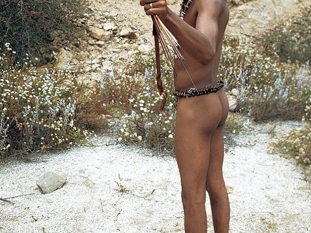 "Comedian Richard Pryor sends up the image of a ""primitive"" in this 1968 photograph, which appears on the cover of Laughing Fit to Kill."