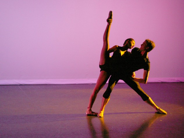 Puanani Brown '12 and James Fuller '10 perform <em>Tandem</em>, a new work by choreographer Claudia Schreier '08 that premieres at the Harvard Dance Center's <em>Viewpointe</em> concert in April.