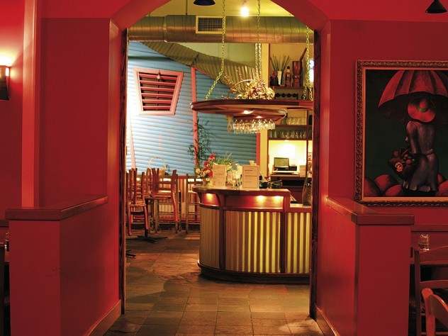 Rich colors and paintings by Latin American artists add to Merengue's vibrancy.