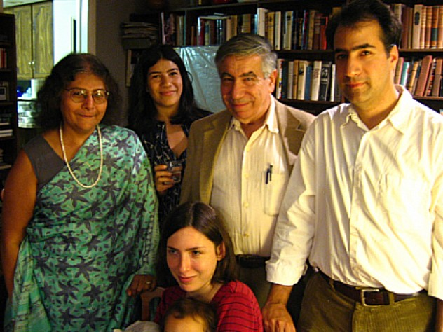 The Jasanoff family, clockwise from left: Sheila, Maya, Jay, Alan, and Alan's wife, Luba (holding daughter Nina)