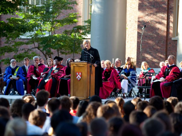 President Drew Faust delivered the principal convocation address.