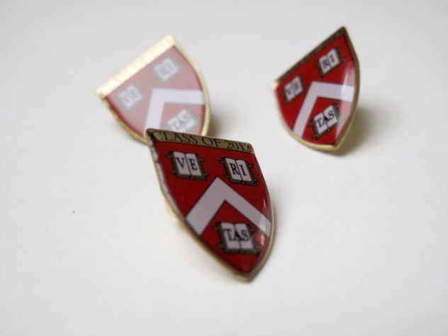 Emblems of a new tradition: the Harvard College Class of 2013 pin