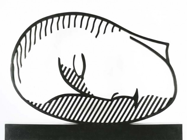 Roy Lichtenstein, Sleeping Muse, 1983. Bronze (lost wax), with green- black patina, 65.4 x 86.4 x 10.2 cm