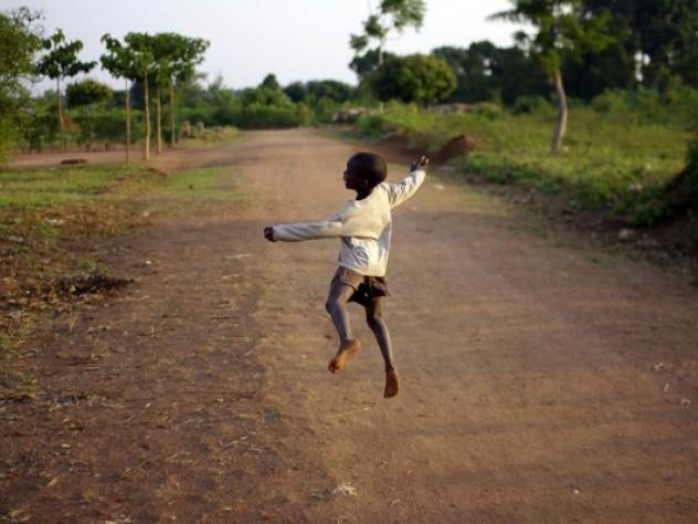 A display of spontaneous joy on a Busia street
