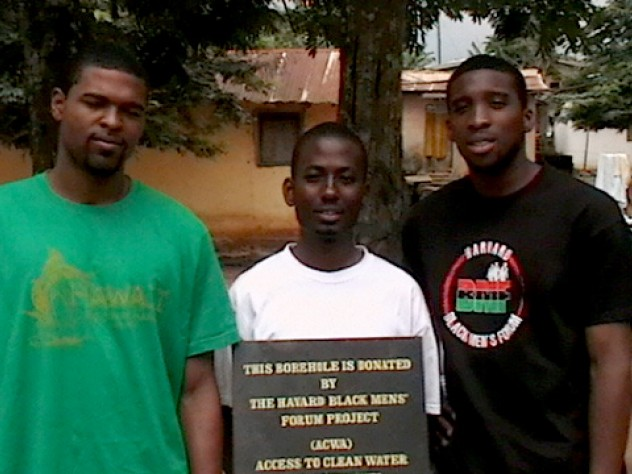 The Harvard team: Darryl Finkton '10, Sangu Delle '10, and Ndu Okereke '10