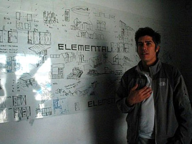 Alejandro Aravena in his office.