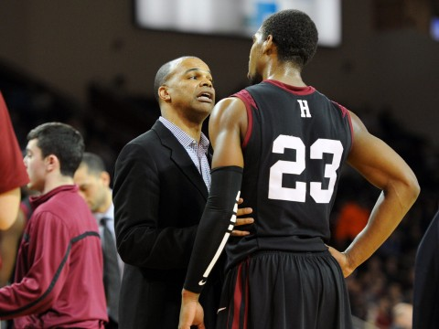 Harvard coach Tommy Amaker is trying to figure out how best to utilize—but not exhaust—reigning Ivy League Player of the Year Wesley Saunders '15.