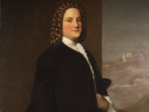 A portrait of Benjamin Franklin painted by Robert Feke