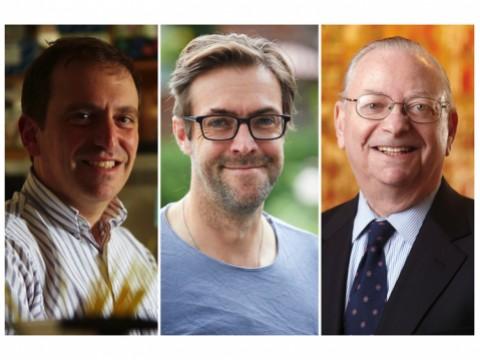 Headshots of Marc Lipsitch, William Hanage, Barry Bloom